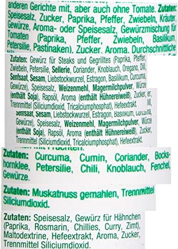 Fuchs 12er Gewürz-Sortiment in der Dekorbox Gewürzdosen-Set Gewürz-Sortimentskasten, mit 12 verschiedenen Gewürzen, zum Kochen und Backen, Menge: 1 Stück