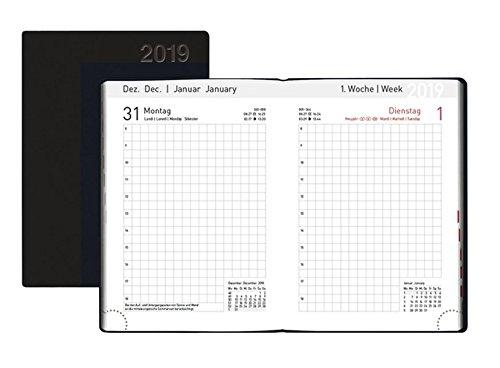 Handwerker-Kalender PVC schwarz 2019
